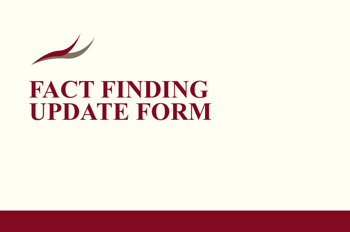 Fact Finding Update Form